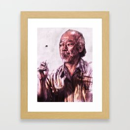 Mr. Miyagi from Karate Kid Framed Art Print