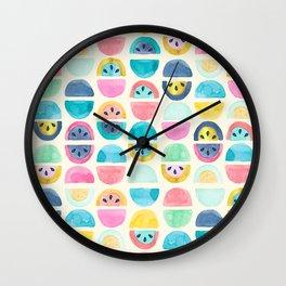 Slice of Happy Wall Clock