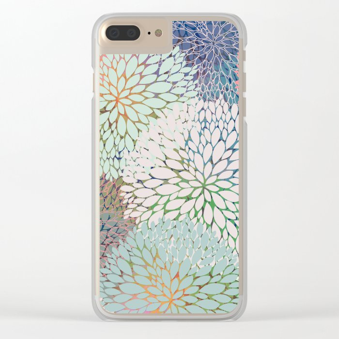 Abstract Floral Petals 3 Clear iPhone Case