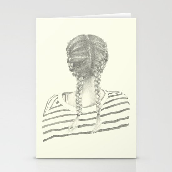 French braids 01 Stationery Cards