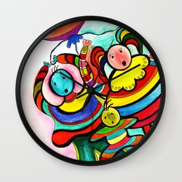 Love fools with baby Wall Clock