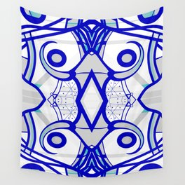 Blue morning - abstract decorative pattern Wall Tapestry