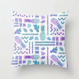 Pineapple Ginger Mint Throw Pillow