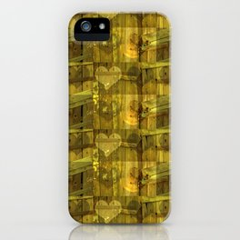Green Heart Pattern iPhone Case