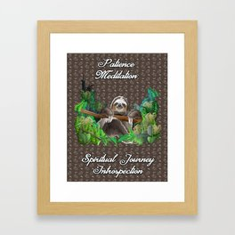 The Sloth (The Spiritual Meaning) Framed Art Print