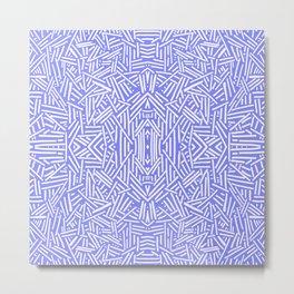 Radiate (Periwinkle) Metal Print