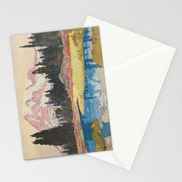 Mount Rainier  Vintage Beautiful Japanese Woodblock Print Hiroshi Yoshida Stationery Cards