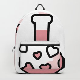 Pink Love Magic Potion in a Laboratory Flask Backpack