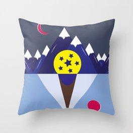 Surreal Ice Cream Throw Pillow