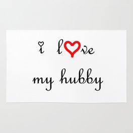 I love my hubby . artlove Rug