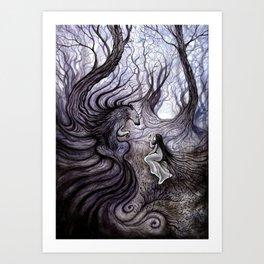 Les Cils du Loup Art Print