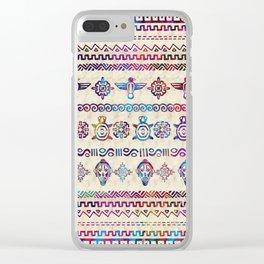 Maya / Aztec Gentle Watercolor pattern Clear iPhone Case