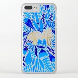 As If – Navy & Gold Clear iPhone Case