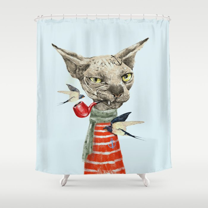 Sphynx Cat Shower Curtain