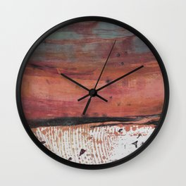 Solid Ground Coral Wall Clock