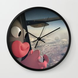 Lars&Rosa in the Planes Wall Clock