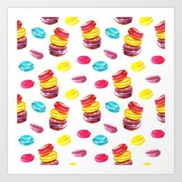Sweet macaroons Art Print