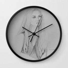Portrait of Maren Wall Clock