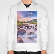 Gorgeous Epic River in Landscape with Rocks Hoody