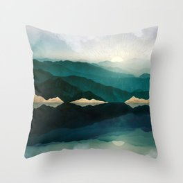 Waters Edge Reflection Throw Pillow