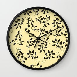 Petite Yellow Floral Wall Clock
