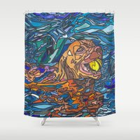 best friend Shower Curtains featuring Man's Best Friend by Juliana Kroscen
