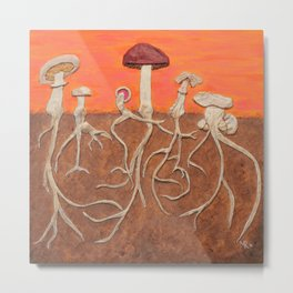 Laughing Shrooms Metal Print