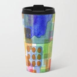 Playful Squares Travel Mug