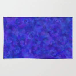Royal Blue Floral Abstract Rug