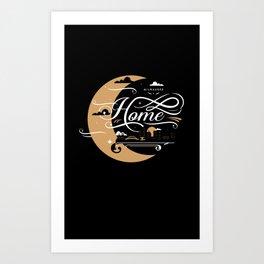 Milwaukee Home Moon Art Print