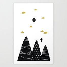 Cortinas Cuarto Juegos Art Print