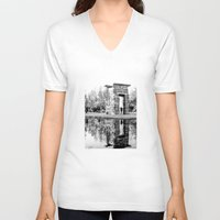 madrid V-neck T-shirts featuring Madrid reflections by PabloEgM