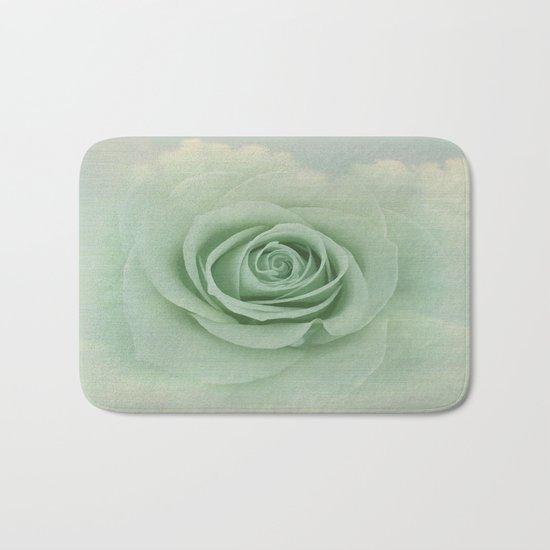 Dreamy Vintage Floating Rose Bath Mat