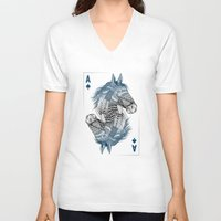 ace V-neck T-shirts featuring American Pharoah (Ace) by Rachel Caldwell