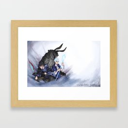 Cracked Crown & Claw Poster Framed Art Print