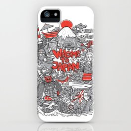 welcome to japan illustration iPhone Case