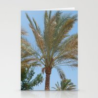 palm trees Stationery Cards featuring Palm Trees by MehrFarbeimLeben