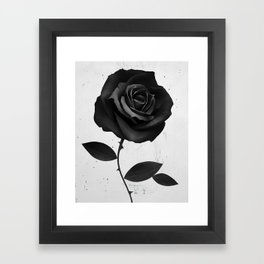 Fabric Rose Framed Art Print