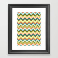 Citronique Series: Chevron Grand Sorbet Framed Art Print