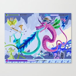 Princess Planet Boss Battle 6 - Hot Licks Canvas Print