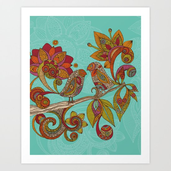 Hello Birds Art Print