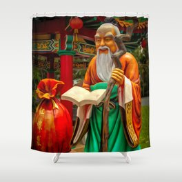 Yue Lao Statue Shower Curtain