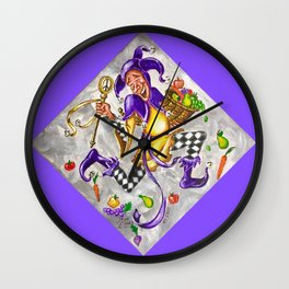 Peace, Plenty and Happiness Fool Wall Clock