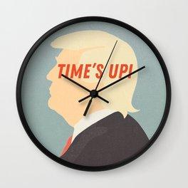 Time's Up - Resist Donald Trump! Wall Clock
