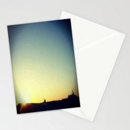 Monorail at Sunset Stationery Cards