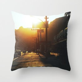 A trip of a thousand miles begins with a single step Throw Pillow