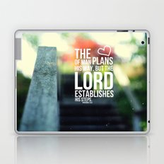 The Lord establishes his steps  Laptop & iPad Skin