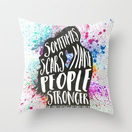 The Lovely Reckless - Scars Throw Pillow