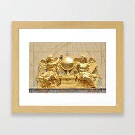Angels of the Sorbonne sundial Framed Art Print