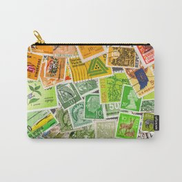 Rainbow vintage postage stamps Carry-All Pouch